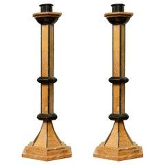Biedermeier Style Candlesticks