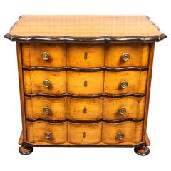 Biedermeier Style Ebonized Maple Chest of Drawers