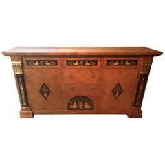 Biedermeier Style Empire Sideboard Credenza Cabinet by Francesco Molon
