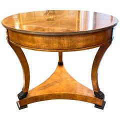 Biedermeier Style Mahogany Center Table