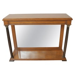 Biedermeier Style Mirrored Front Console