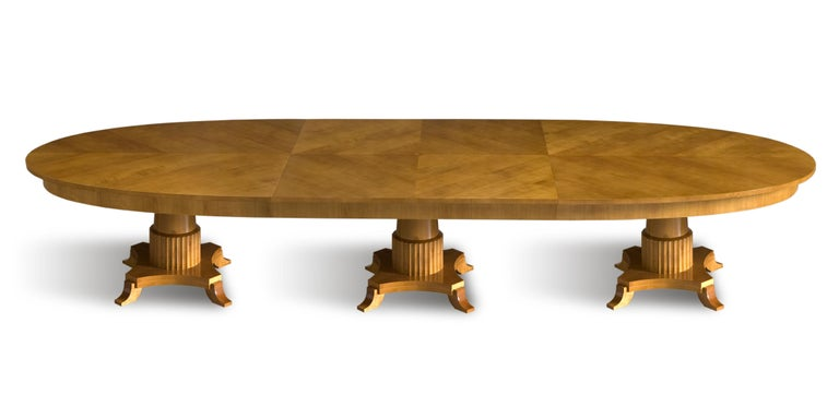 Biedermeier style oval table made of cherrywood Made to order in different finishes and different dimension.