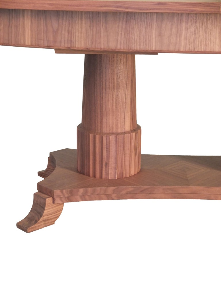 Italian Biedermeier Style Oval Table Made of Cherry Wood, Custom Made For Sale