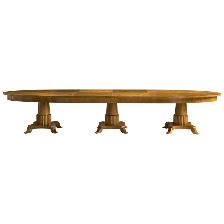 Biedermeier Style Oval Table Made of Cherry Wood, Custom Made For Sale
