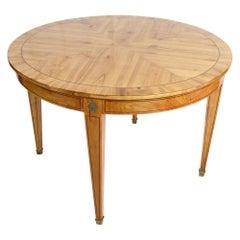 Biedermeier Style Round / Centre Extendable Cherrywood Table
