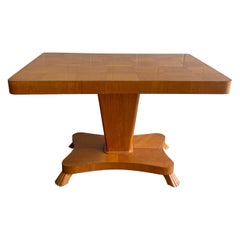 Biedermeier Style Satinwood Adjustable Game Table