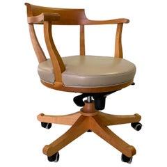 Biedermeier Style Swivel Armchair Made in Cherrywood