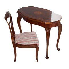 Biedermeier Table and Chair