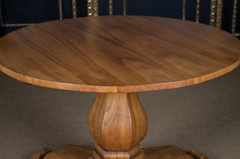 Biedermeier Table Cherrywood Original, 1820 In Good Condition For Sale In Berlin, DE