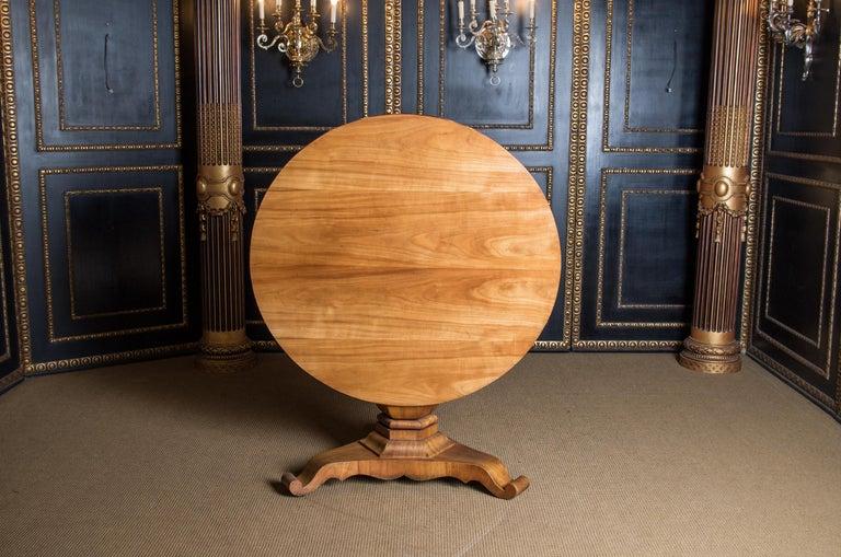 Biedermeier Table Cherrywood Original, 1820 For Sale 3