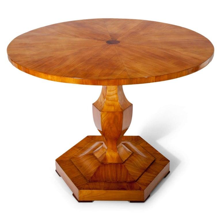 Veneer Biedermeier Table, Danube Monarchy, 1820-1825 For Sale