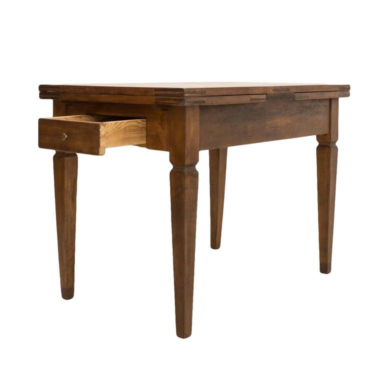 Maple Biedermeier Table, Extandable, Germany, 19th Century For Sale