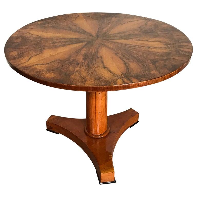 Biedermeier Table, South German 1820, Walnut For Sale