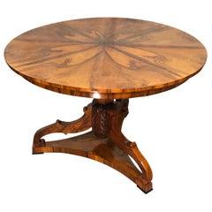 Biedermeier Table, South German, 1820, Walnut