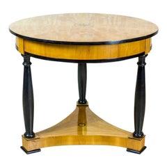 Biedermeier Table Veneered with Rosewood, circa 1860