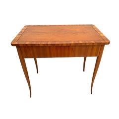 Biedermeier Table with Drawer, Cherry Veneer, South Germany, circa 1830