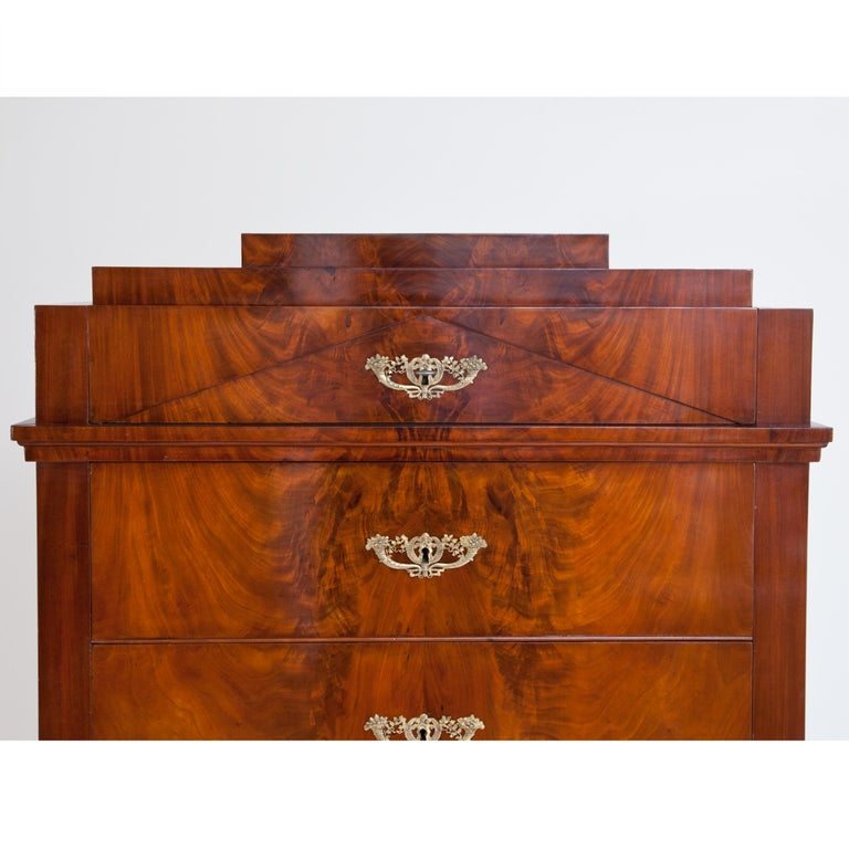 Early 19th Century Biedermeier Tall Chest of Drawers, circa 1820 For Sale