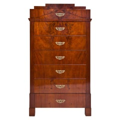 Biedermeier Tall Chest of Drawers, circa 1820