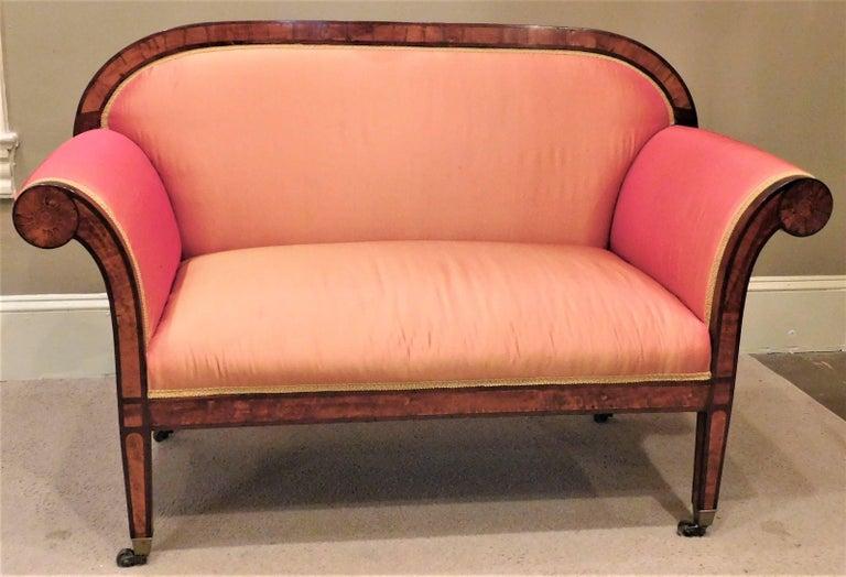 German Biedermeier Two-Seat Settee, circa 1825 For Sale