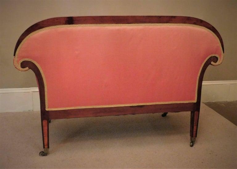 19th Century Biedermeier Two-Seat Settee, circa 1825 For Sale