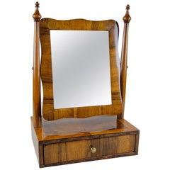Biedermeier Vanity Table Mirror Nutwood, Austria, circa 1850