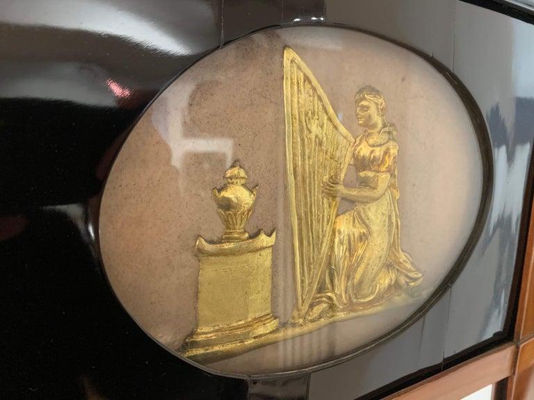 Biedermeier Wall Mirror, Cherrywood, Golden Decor, South Germany, circa 1820 For Sale 3