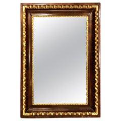 Biedermeier Walnut and Giltwood Mirror