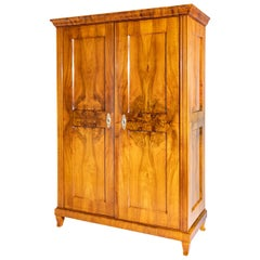 Biedermeier Walnut Armoire, Southern Germany, circa 1830