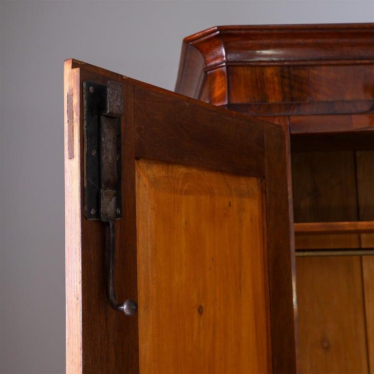 Biedermeier Walnut Cabinet, Early 19th Century 2