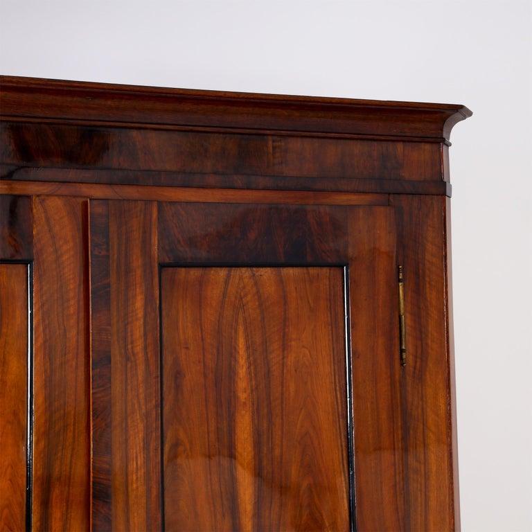 Biedermeier Walnut Cabinet, Early 19th Century 5