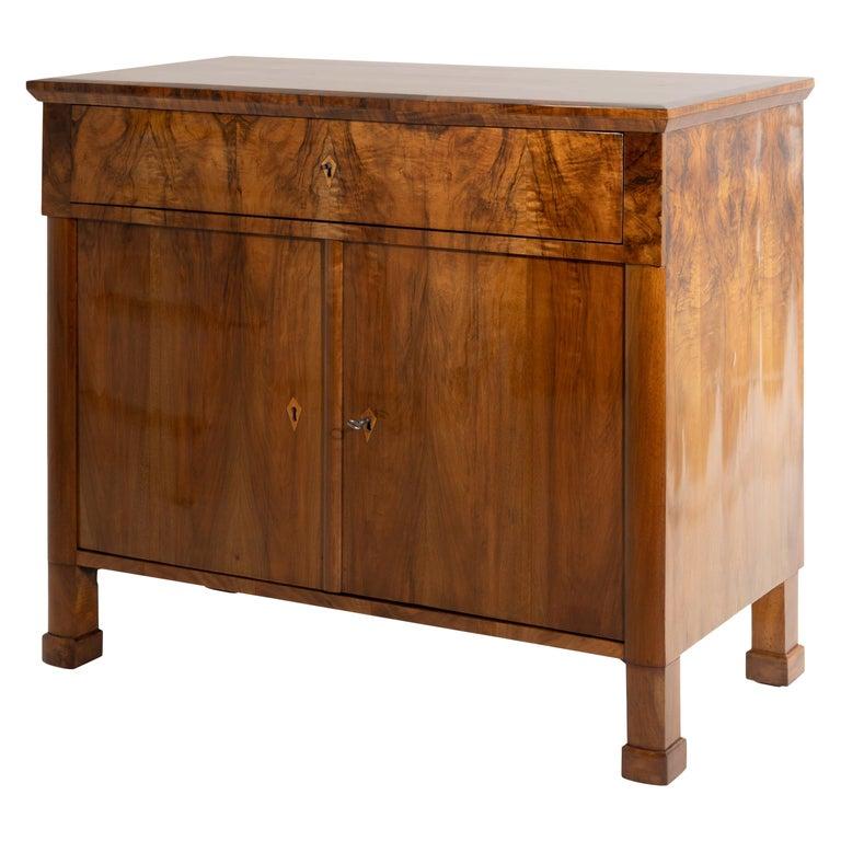 Biedermeier Walnut Cabinet, German, circa 1820 For Sale