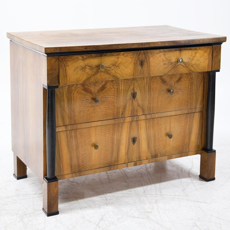 Biedermeier Walnut veneered Chest of Drawers, Germany / Franconia, circa 1820 For Sale 2