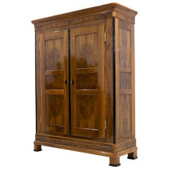 Biedermeier Walnut Wardrobe, Germany, circa 1830