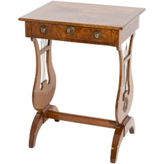 Biedermeier Walnut Worktable, circa 1820