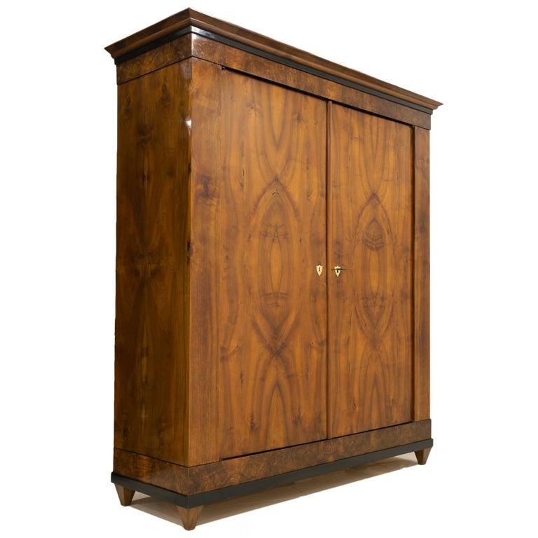 Biedermeier Wardrobe, Germany, 19th Century In Good Condition For Sale In Wrocław, Poland