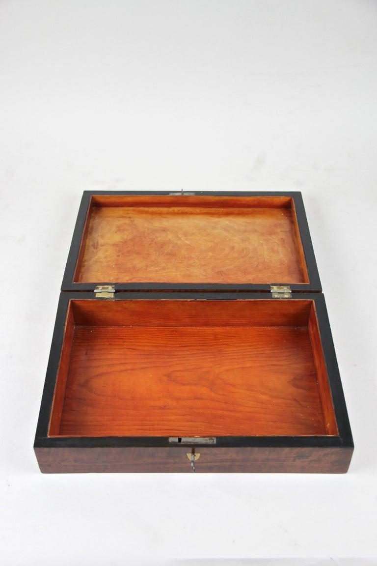 Veneer Biedermeier Wooden Box, Austria, circa 1830 For Sale