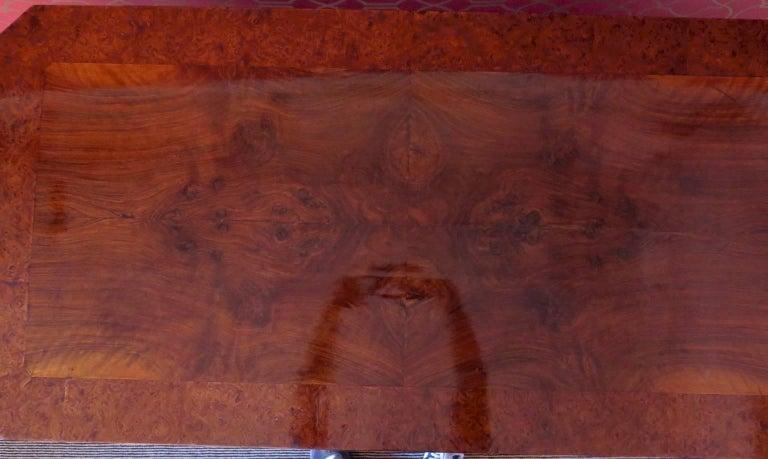 1830 Walnut Austrian Biedermeier Writing Desk For Sale 2