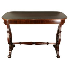 Biedermeir Coffee Table 'or Writing Desk' in Mahogany, Denmark