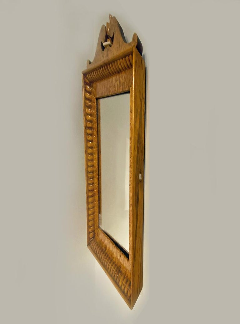 Carved Biedermeir Maple Mirror For Sale