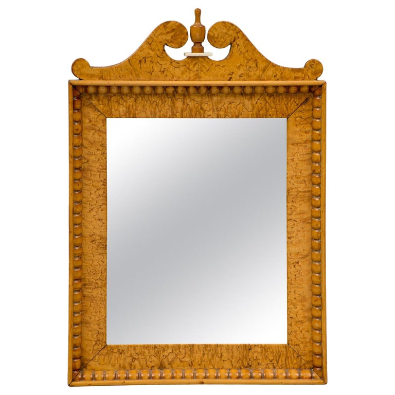 Biedermeir Maple Mirror For Sale