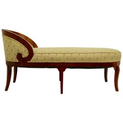 Biedermeier Chaise Lounge Recamier Sofa