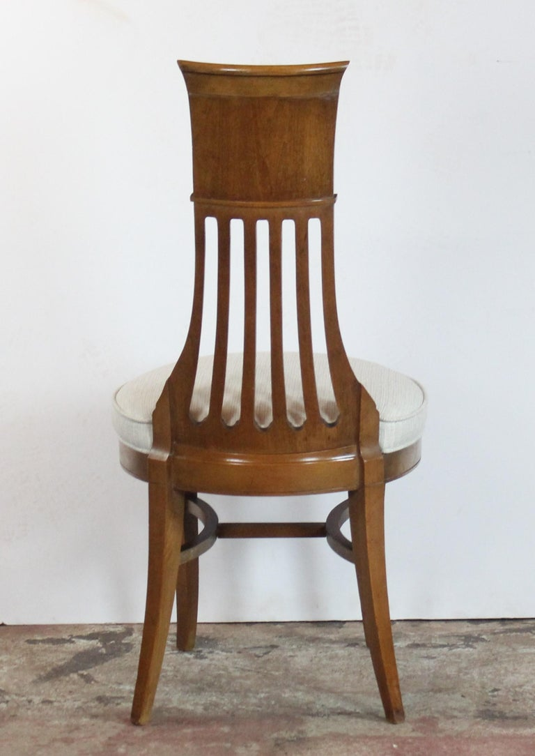 Wood Biedermier Style Dining Chair Set of 6 For Sale