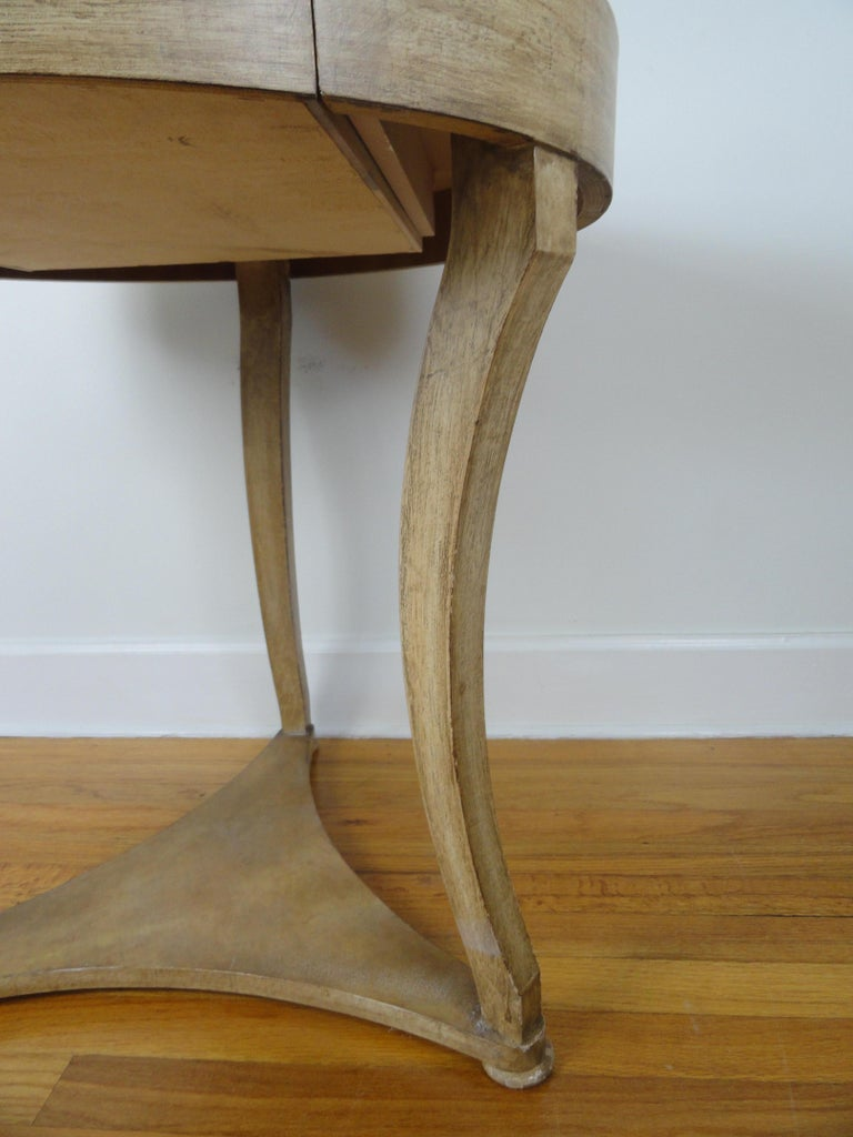 American Biedermier Style Round Table For Sale