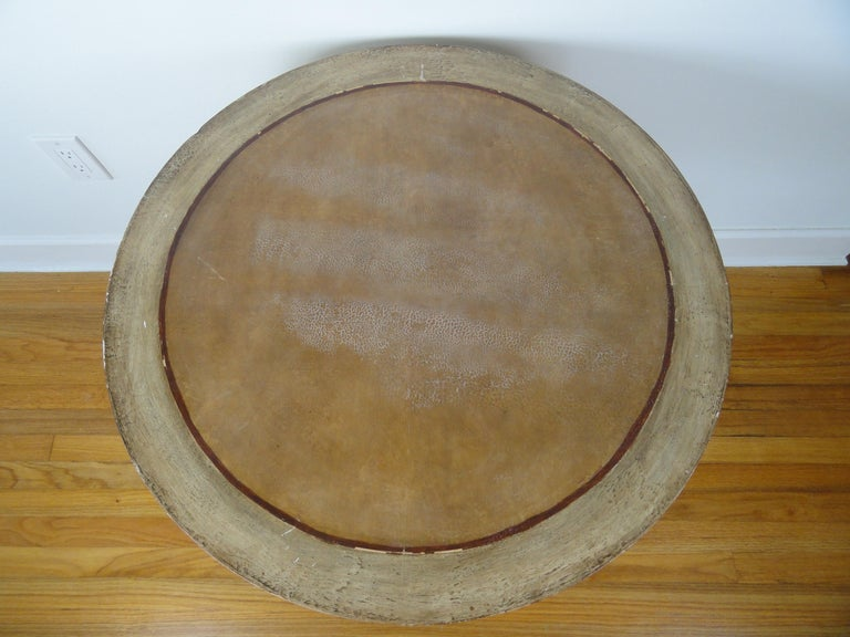 Late 20th Century Biedermier Style Round Table For Sale