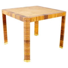 Bielecky Brothers Mid Century Rattan Game Dining Table