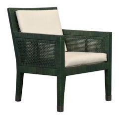 Bielecky Brothers Rattan and Stainless Steel Armchair, 1980s