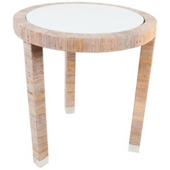 Bielecky Brothers Round Side Table with White Insert Top