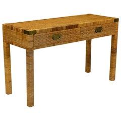 Bielecky Style Wicker Desk or Console