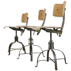 Biennaise Industrial Chairs, circa 1940s