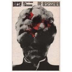 """Biesy"" 1972 Polish A3 Theatre Poster"